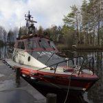 Pv Teemu Hiltunen viimeistä kertaa Kalkkisten tukikohdan laiturissa lokakuun 2013 lopussa. Kauden päätteeksi alus siirtyi Kemiin.