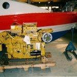 PV Teemu Hiltusen moottori Caterpillar 3176 odottamassa asennusta