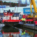 Ensimmäinen kosketus Vesijärveen Niemen satamassa